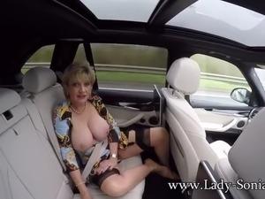 wife flashing passing cars