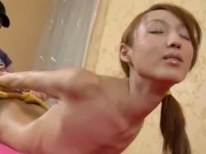 oily asian girls massaging