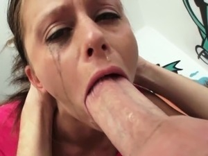 sexy blonde sucking big cock