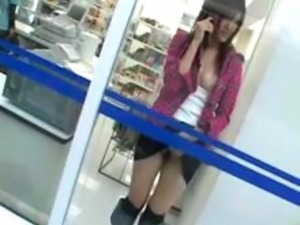 young teen girl masterbates in public