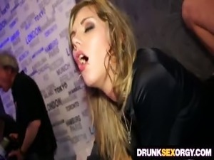girls drunk in the club flashing