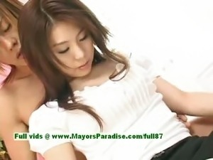 cute asian shows her pussy