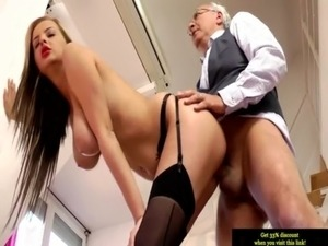 old man threesome with young girls