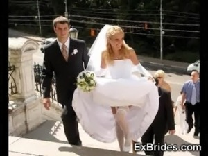 young bride with firm tits