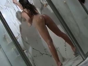 Nasty brunette shows her awesome body part4