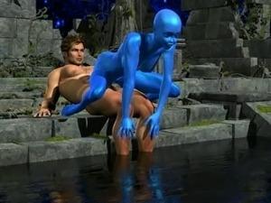 girl anal probe alien