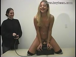 teen girls riding sybian machine
