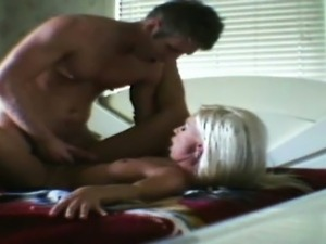 Cheating Blonde Taking Cumshot On Hidden Spy Camera