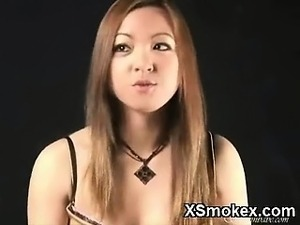 Nude girls smoking pot