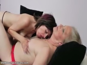 Old and young lesbian video