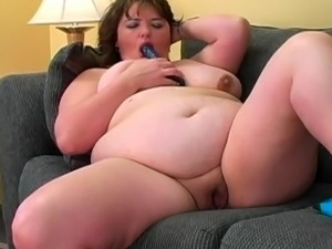 Fat slut playing with big toys...