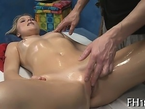 Beauty blowing during massage