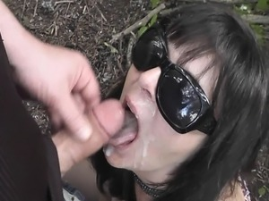 wife makes husband eat cum video