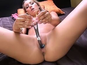 Deep gyno toys in her nasty vagina cunt