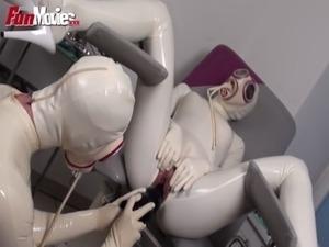 japanese girl hospital anal proctoscope torture