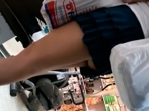 Upskirt Of A Sexy Mother At The Store