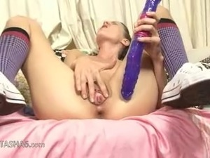 Two russian babes dildoing vaginas