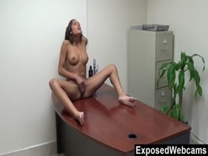 Chloe's Webcam Show At The Office free