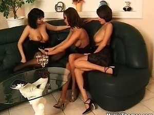 Three big tits lesbian babes having part3