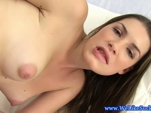 Fellation loving euro newbie sucks cock with pierced tongue