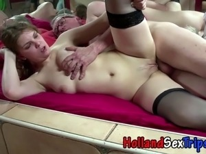 Dutch hooker gets cumshot banging tourist for cash