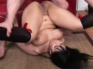 anal spread probed asian punished pussy
