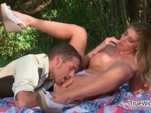 Hot big tits blonde gets her pussy part6