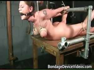 girl bound by ropes and sex