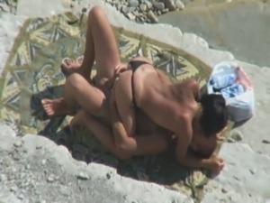 Voyeur Tapes Couple Fucking On Beach free