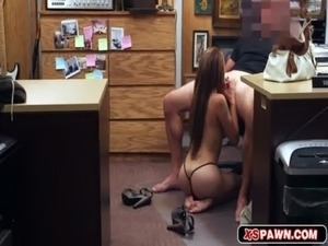 Sexy hot latina fucked in office to a pawn shop free