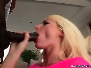 Incredible pretty blonde sluts get mouth part6