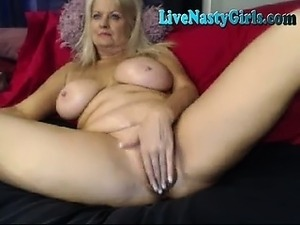 mature touches on webcam