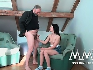 old man on young pussy