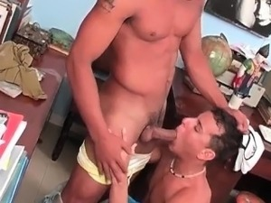 Two horny Latino studs fucking hard  part3