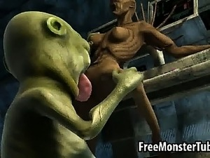 sexy ass alien gets fucked hardcore