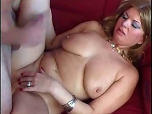Hot blonde MILF gets down and dirty.