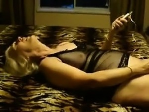Mature Blonde In Lingerie Craves Some Dick