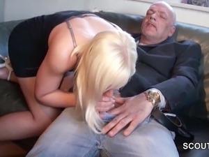 Teen fucked old man