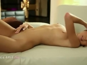 seductive blonde with horny fingers