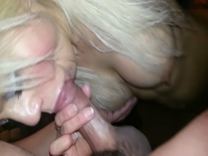 Deep throat interracial