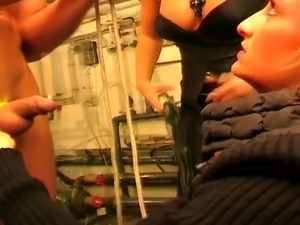 young girls beat and humiliate man