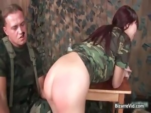 army white girl fucks black guy