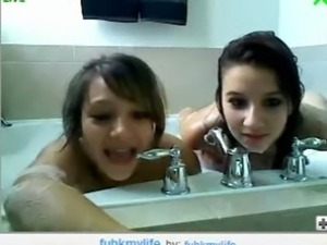 video girls taking showers