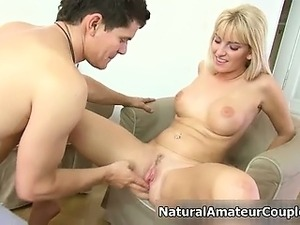 Nasty amateur blonde slut gets horny part6