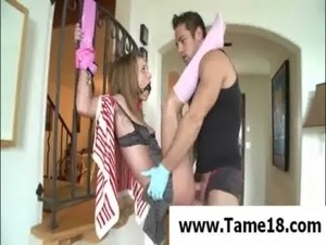 young girl tied and groped