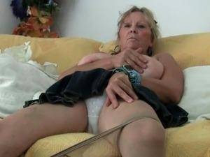 wife wears black panties teasing