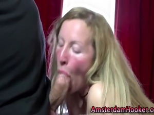 young prostitute giving blowjob
