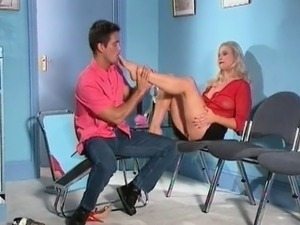 horny fetish foot sex in hottie red part1