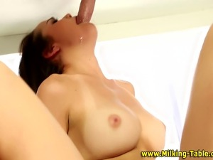 Sex therapist babe gets a cumshot after sucking dick in hi def