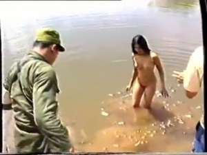 army girls flashing